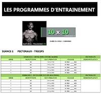 Les programmes d'entrainement Natural Training