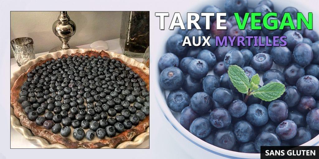 Tarte vegan aux myrtilles