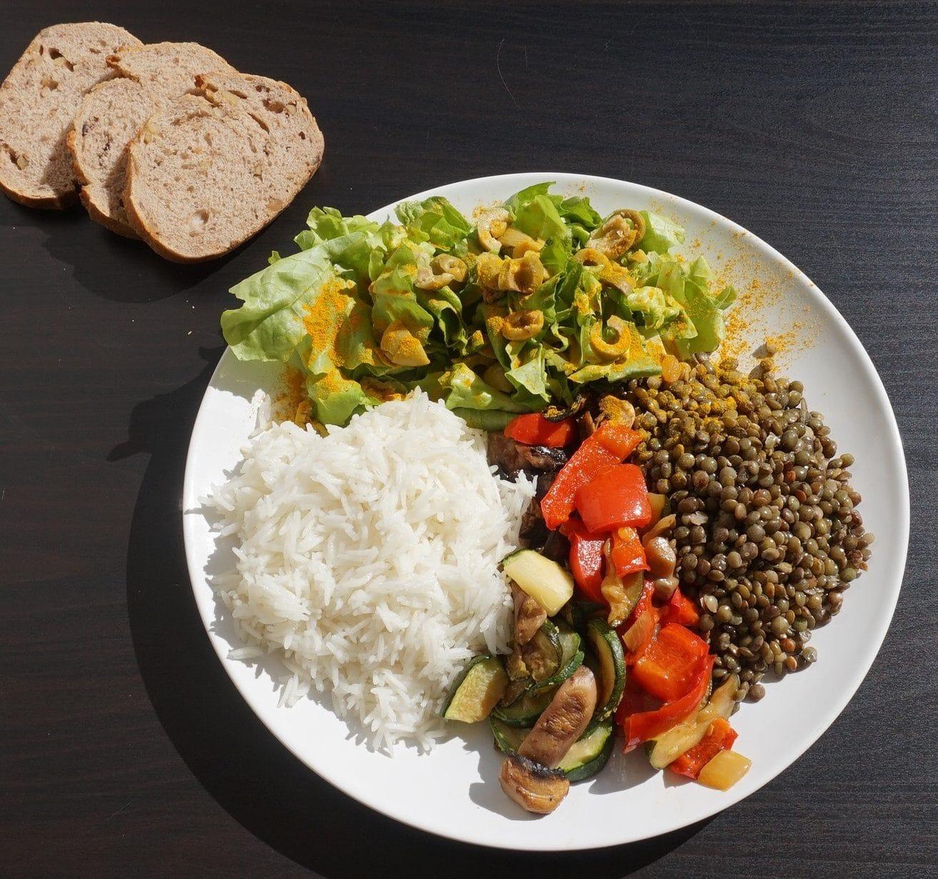 assiette vegan musculation