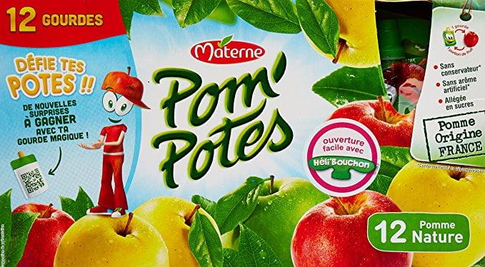 Une boite de 12 gourdes de Pom'Potes