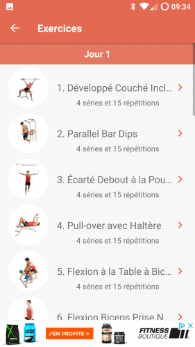 Liste d'exercices de bodybuilding