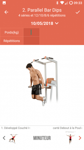 Une animation de l'exercice parallel bar dips