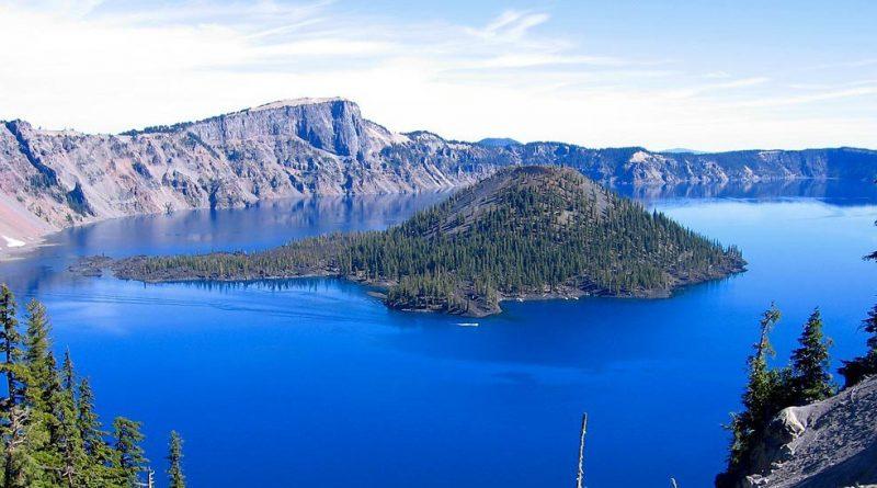 Le lac où se trouve l'algue Klamath