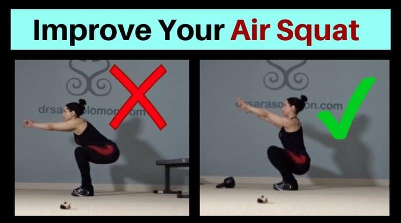 La bonne position pour du Air Squat