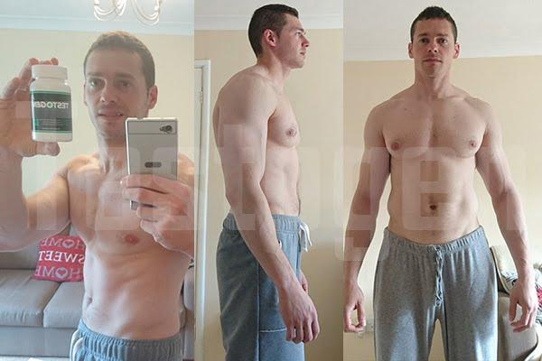 Photo avant et après d'un consommateur de Testogen